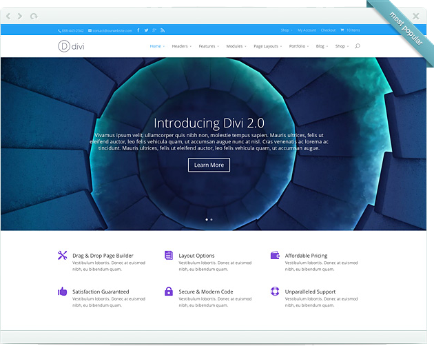 Divi Visual Builder
