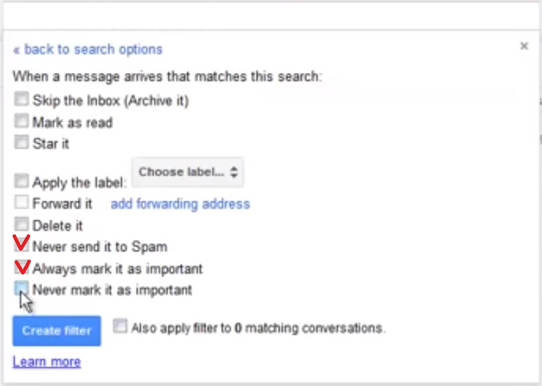gmail spam filter 5 settings filters email adres vrijgeven